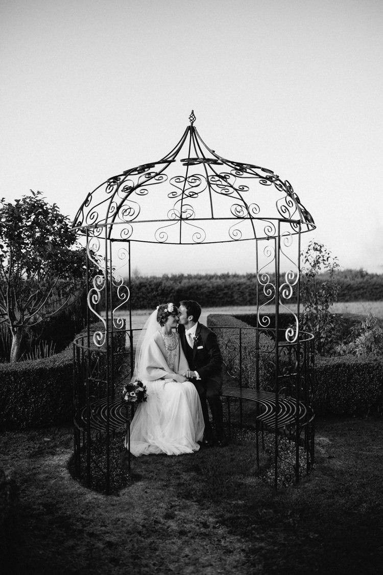 Cain Manor Pergola Heartwarming Festive Winter Wedding http://www.nikkivandermolen.com/