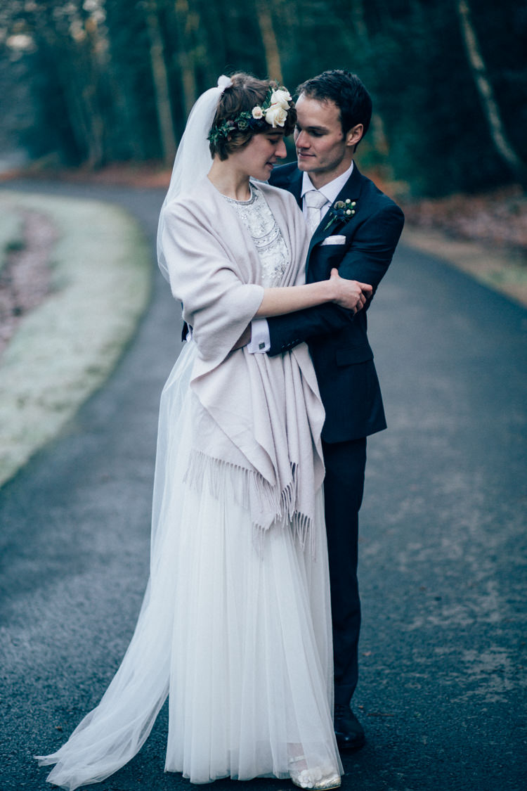 Needle & Thread Separates DKNY Suit Heartwarming Festive Winter Wedding http://www.nikkivandermolen.com/