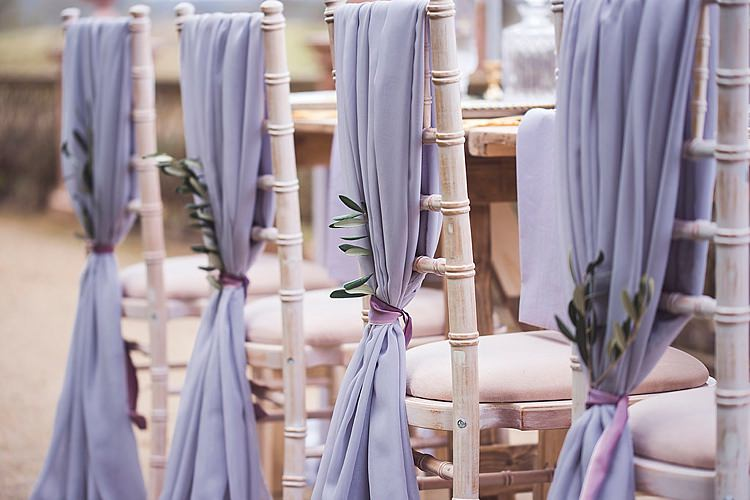 Fabric Chairs Greenery Decor Violet Spring Luxe Wedding Ideas http://www.katieingram.co.uk/
