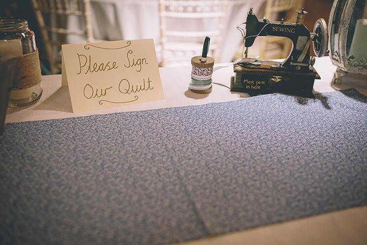 Quilt Guest Book Homespun Fun Country Barn Wedding http://storyandcolour.co.uk/