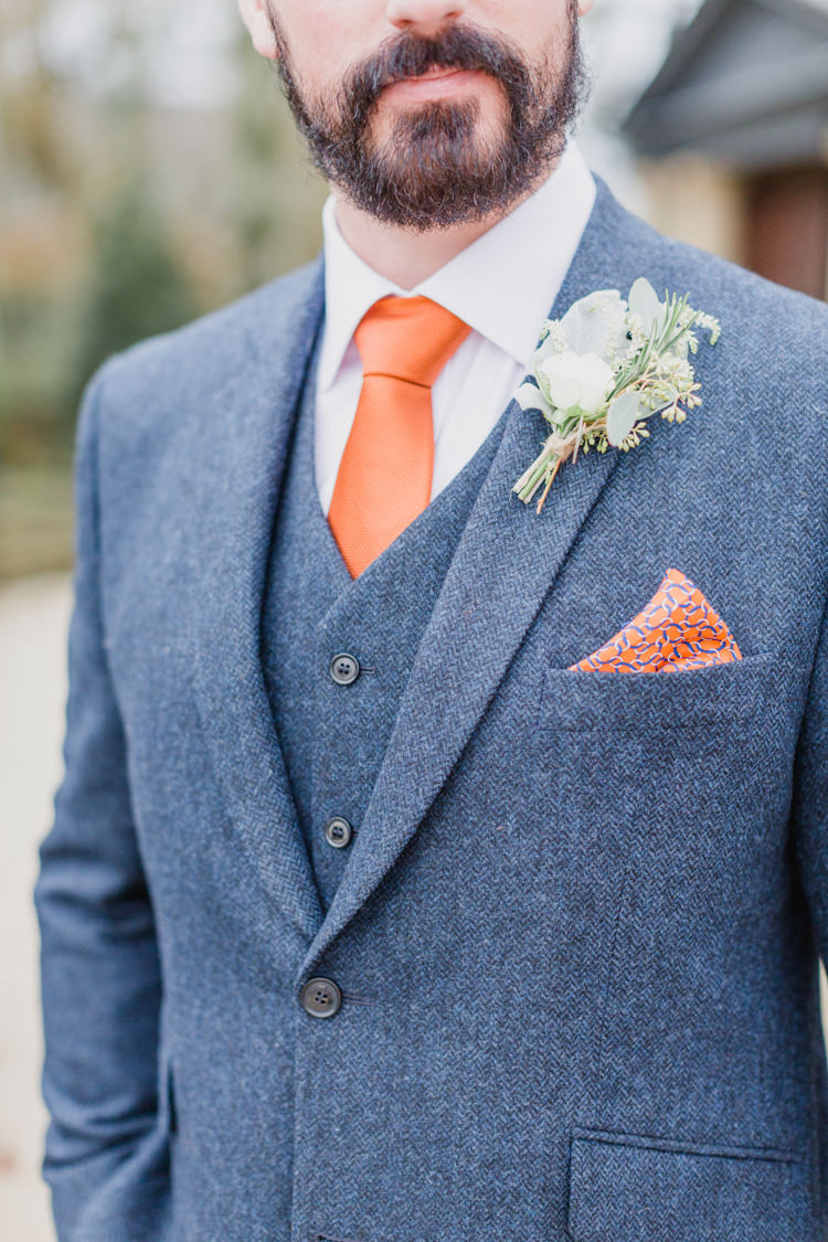Orange Tie Groom Style Whimsical Elegant Classic Wedding http://katymelling.com/
