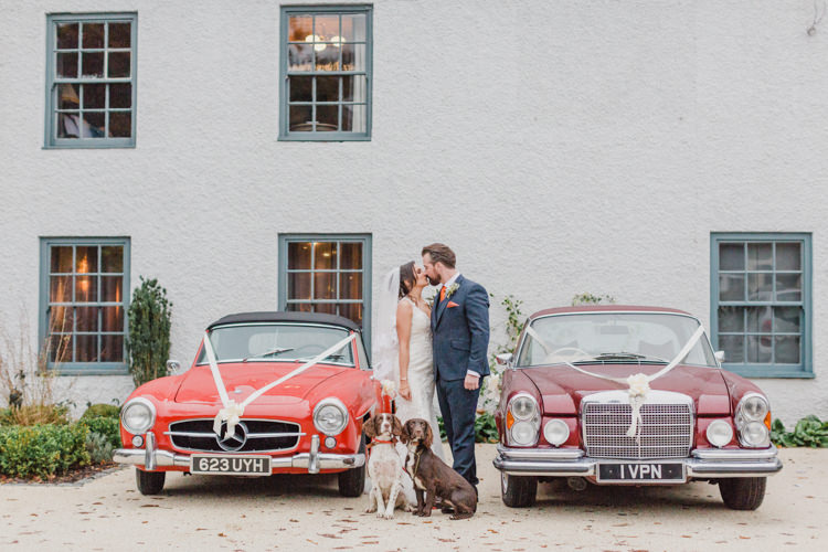 Classic Cars Transport Dog Pets Whimsical Elegant Classic Wedding http://katymelling.com/