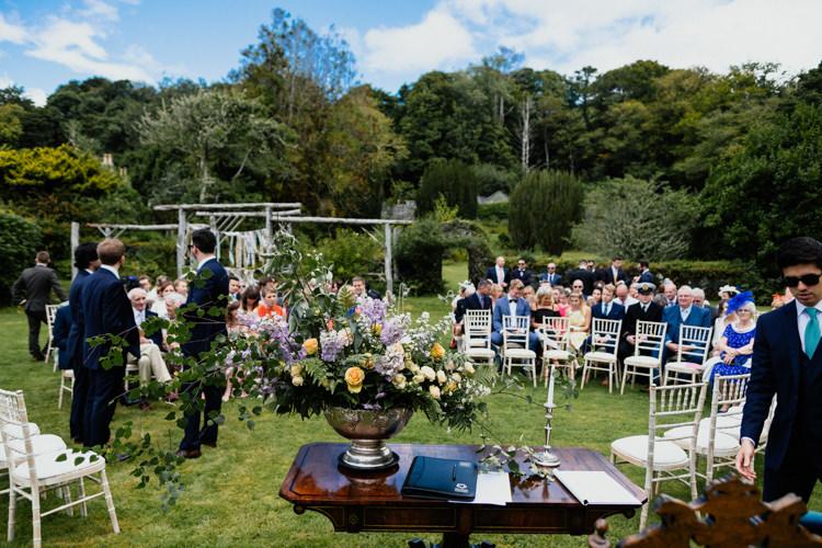 Outdoor Wedding Ceremony Backdrop Floral Relaxed Stylish Outdoor Wedding http://www.euanrobertsonweddings.com/