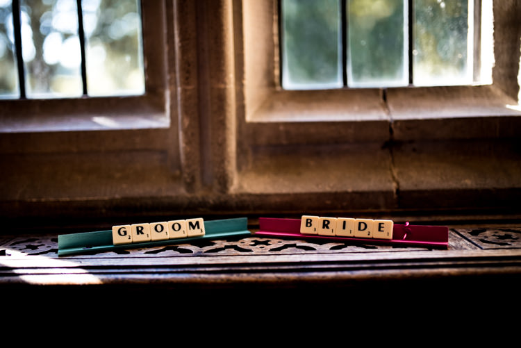 Scrabble Place Names Quirky English Garden Party Wedding http://www.michellewoodphotographer.com/