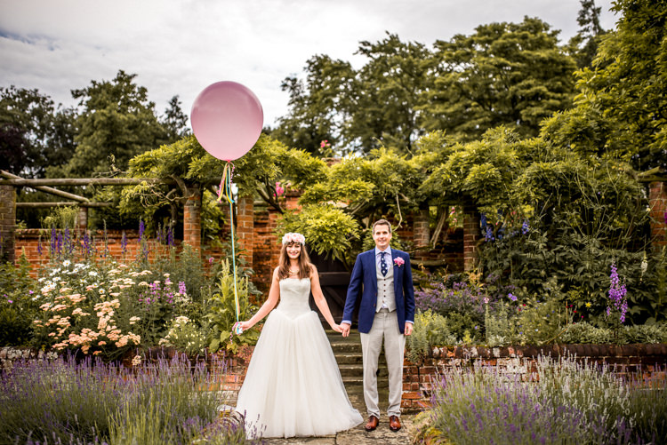 Giant Balloon Bride Groom Quirky English Garden Party Wedding http://www.michellewoodphotographer.com/