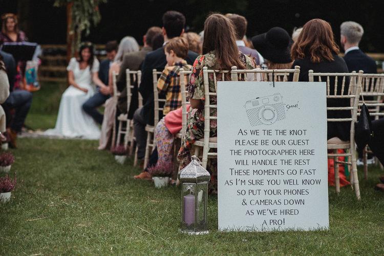 Unplugged Sign Bohemian Festival Tipi Wedding http://esmemai.com/