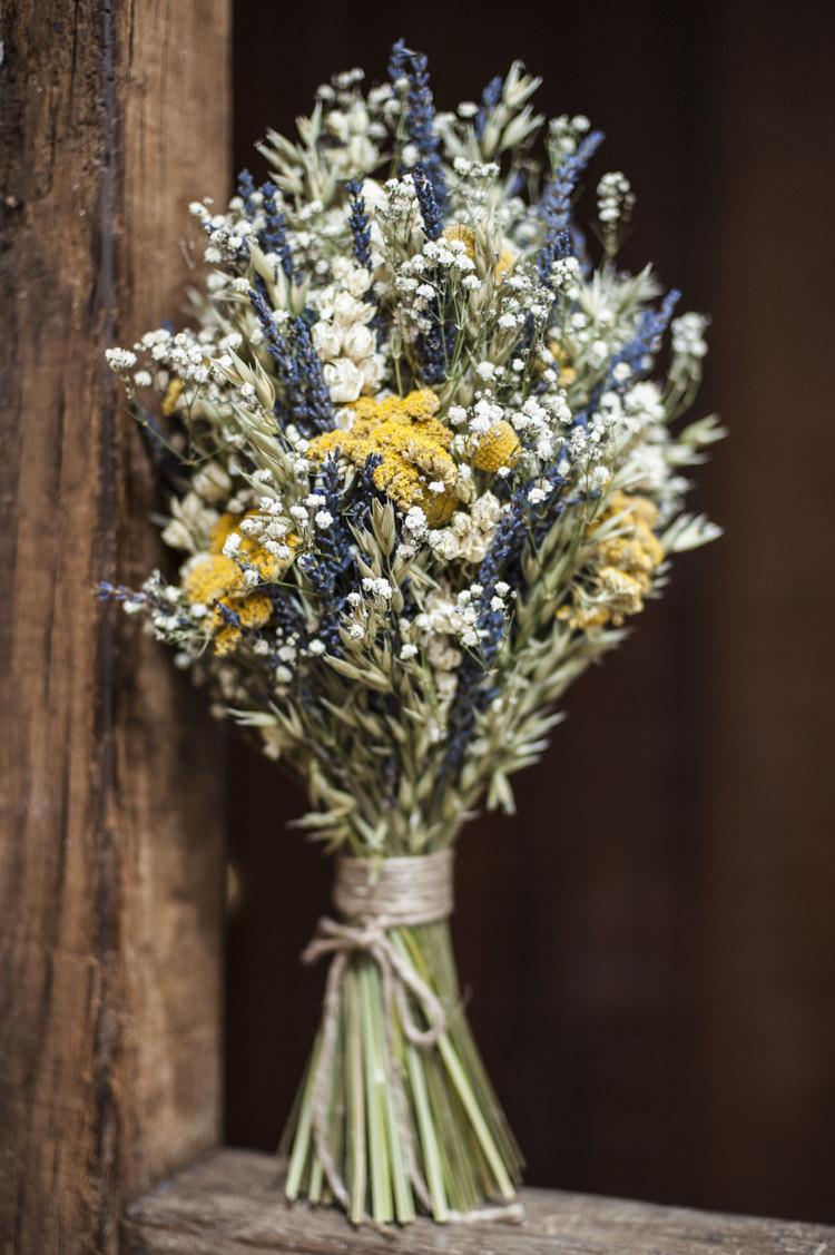Dried Flower Bouquet Bride Bridal Lavender Whimsical Summery Lilac Wedding http://eleanorjaneweddings.co.uk/