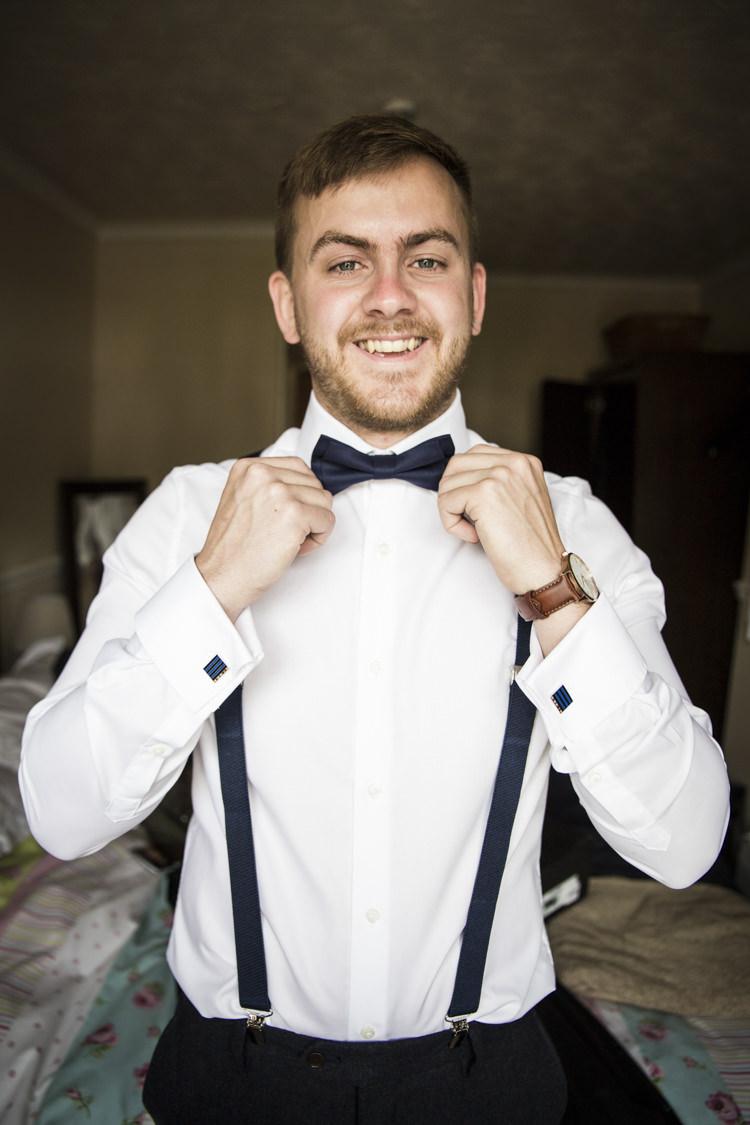 Bow Tie Braces Groom Style Whimsical Summery Lilac Wedding http://eleanorjaneweddings.co.uk/