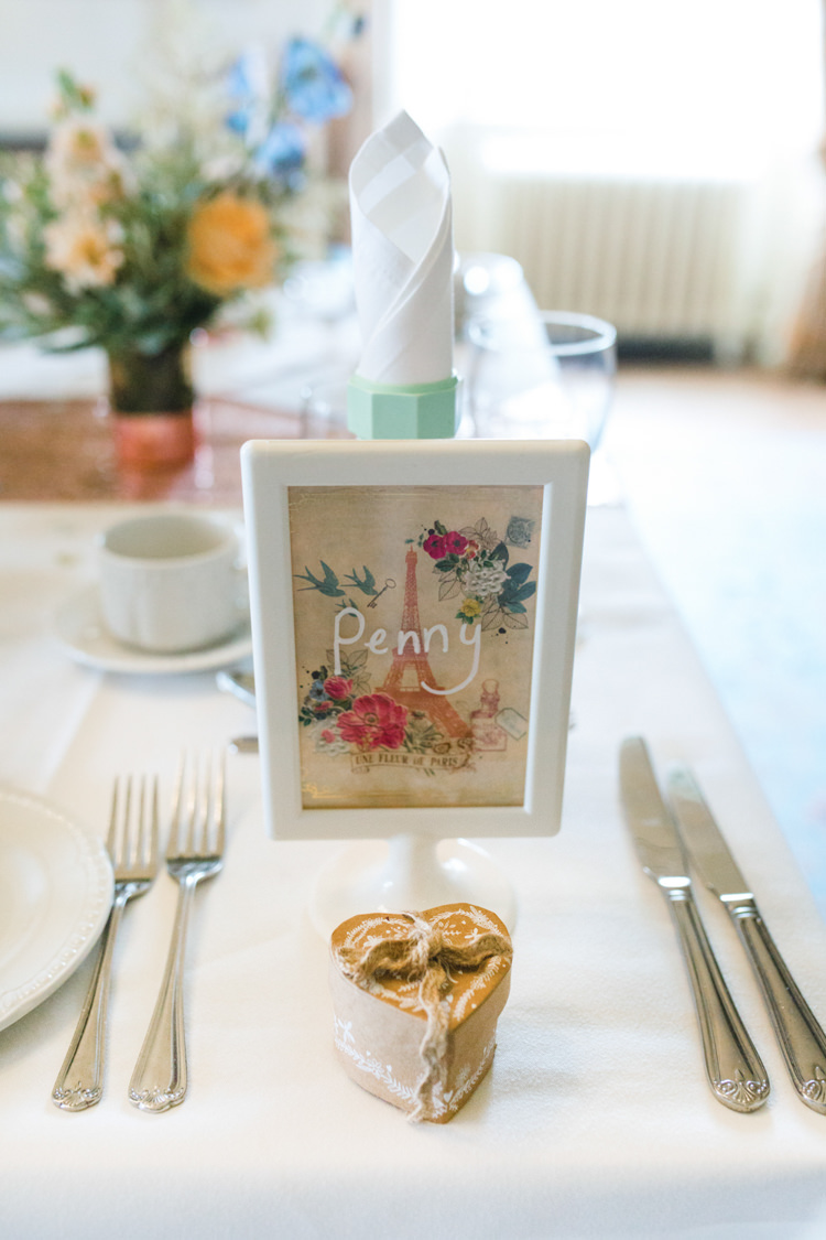 Frame Floral Place Name Setting Whimsical Pastel Travel Wedding https://www.thegibsonsphotography.co.uk/