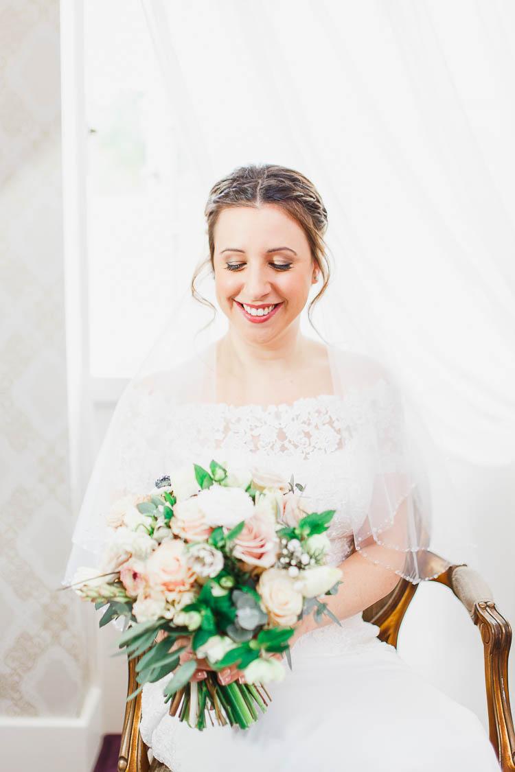 Make Up Bride Bridal Style Beautiful Rustic Fairy Lights Barn Wedding http://whitestagweddings.com/