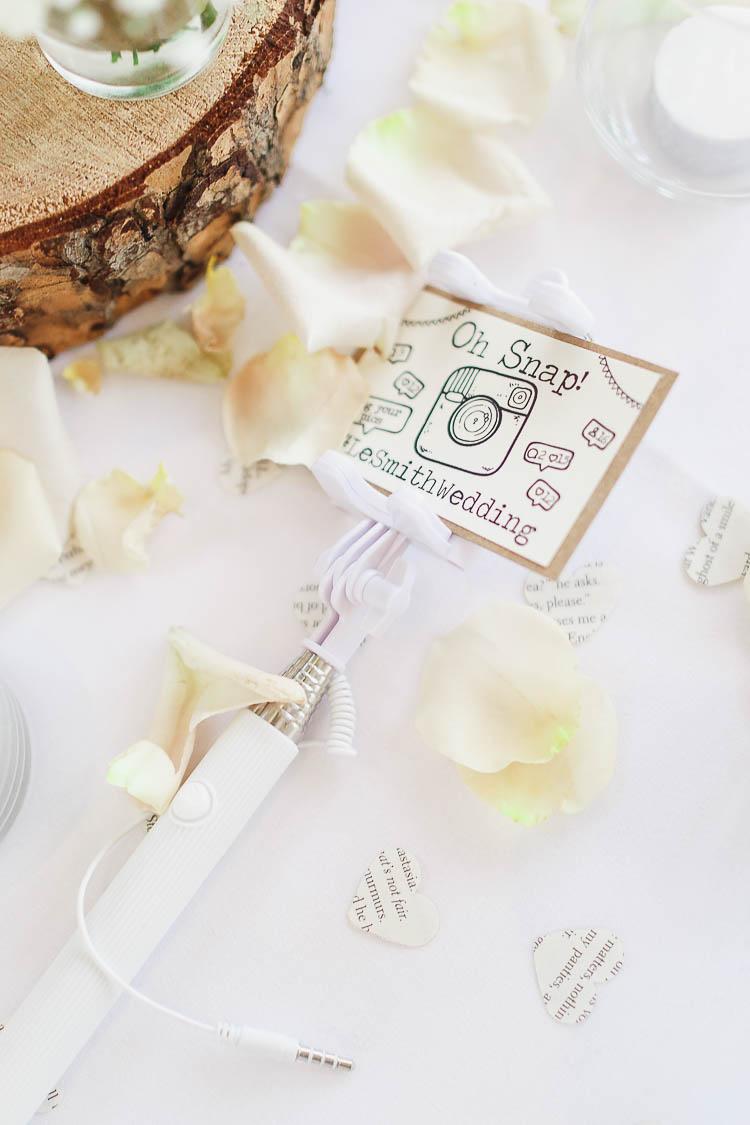 Selfie Stick Beautiful Rustic Fairy Lights Barn Wedding http://whitestagweddings.com/