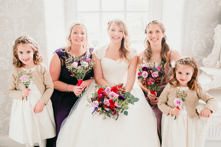 Bride Bridal Bridesmaids Flower Girls Ivory & Co Dress Fun Colourful Modern Music Wedding http://hollycollingsphotography.com/