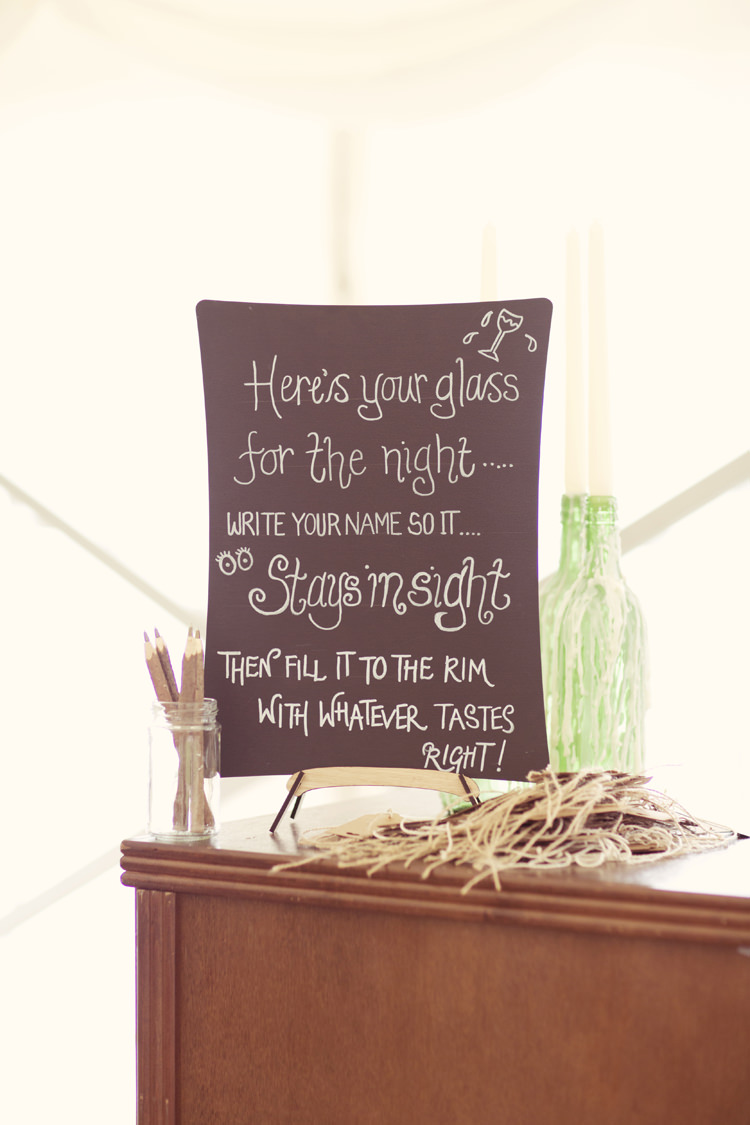 Drinks Sign Tags Personalise Whimsical Woodland Autumn Wedding http://www.rebeccaweddingphotography.co.uk/