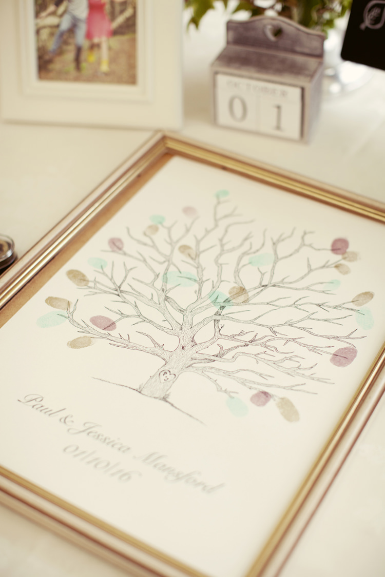 Finger Print Tree Guest Book Whimsical Woodland Autumn Wedding http://www.rebeccaweddingphotography.co.uk/