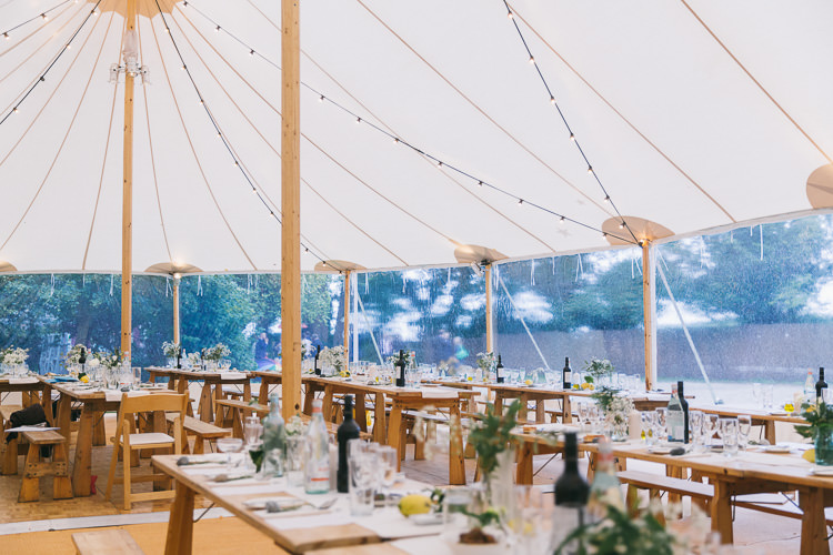 Open Sided Marquee Clear Tent Creative Cool Bohemian Harbourside Wedding http://carohutchings.com/