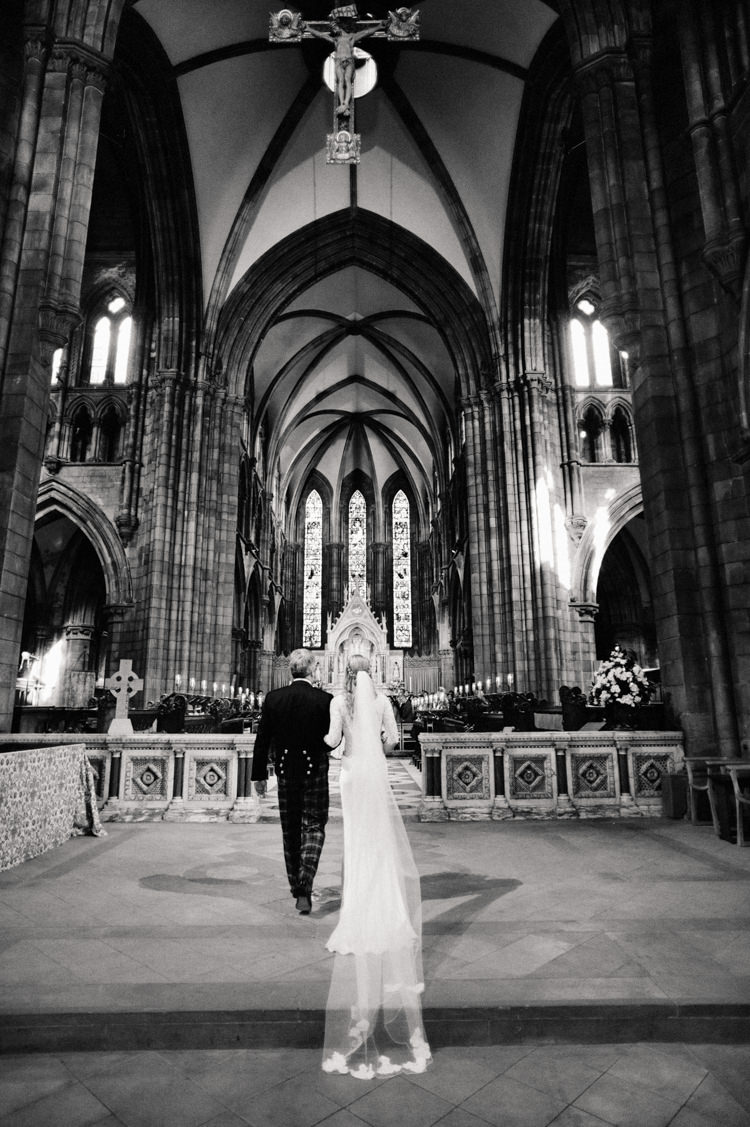 Cathedral Edinburgh Opulent Metallics City Library Wedding http://www.croandkowlove.com/