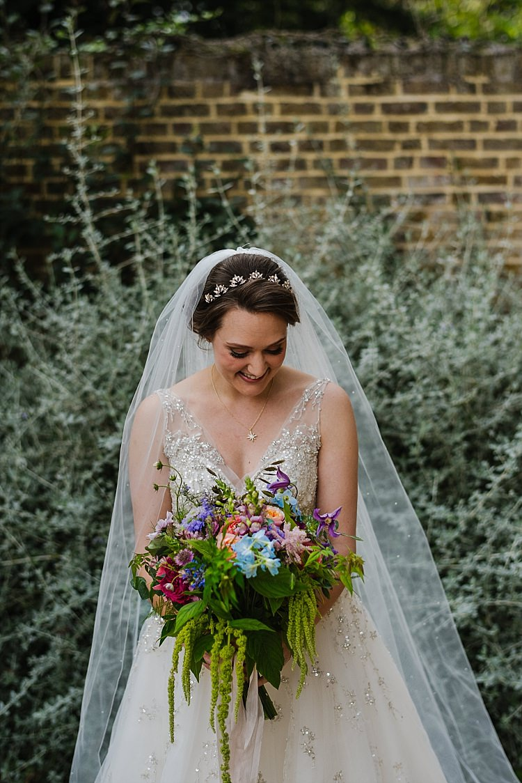 Bouquet Flowers Bride Bridal Colourful Cascading Sparkle Old Hollywood Glamour Wedding https://www.jonnybarratt.com/