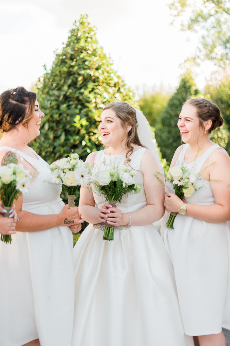 Bridesmaids Dresses Short Modern Rustic Ivory Barn Wedding http://vickylamburn.com/