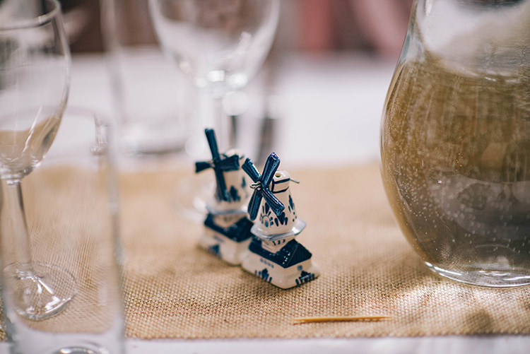 Table Setting Hessian Salt and Pepper Shakers Colourful Fun Party Brighton Wedding http://jmcsweeneyphotography.co.uk/