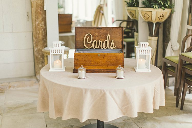 Card Table Storm Lanterns Laser Cut Sign Wooden Natural Romantic Chateau Destination Wedding South of France http://www.jayrowden.com/
