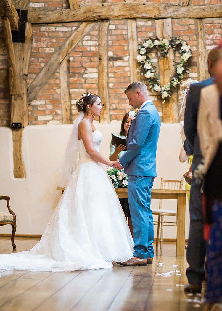 Bridal Bride Lilian West Ball Gown Veil Groom Next Romantic Soft Pastels Barn Wedding http://www.sungblue.com/