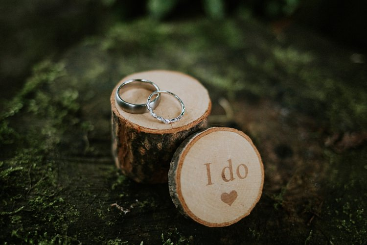 Log Wooden Ring Box Creative Woodland Mad Hatters Tea Party Wedding https://www.clairefleckphotography.com/