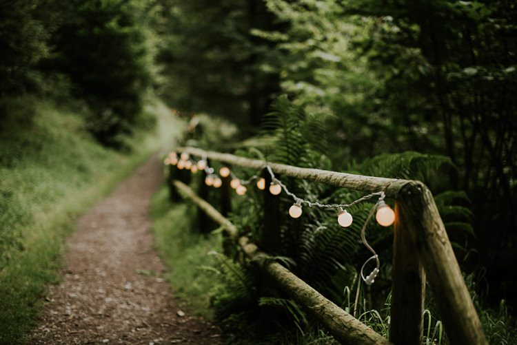 Festoon Lights Creative Woodland Mad Hatters Tea Party Wedding https://www.clairefleckphotography.com/