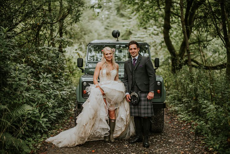 Jeep Land Rover Car Transport Creative Woodland Mad Hatters Tea Party Wedding https://www.clairefleckphotography.com/