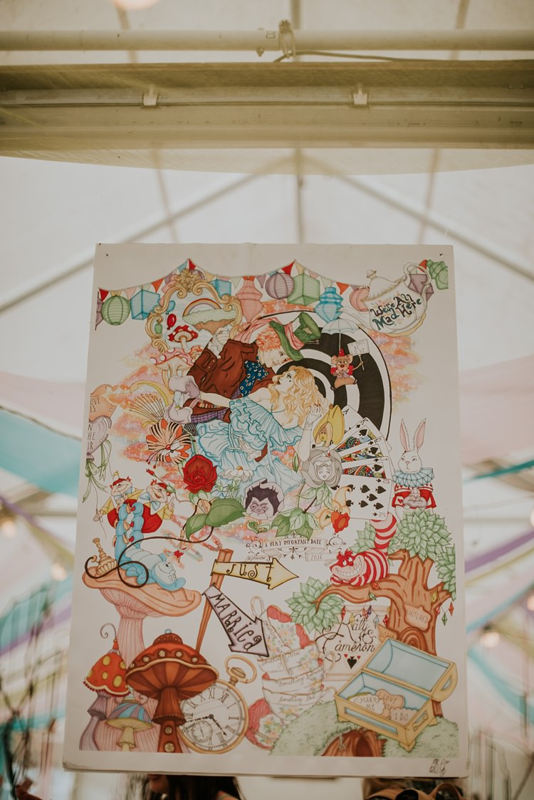 Art Work Banner Personalised Creative Woodland Mad Hatters Tea Party Wedding https://www.clairefleckphotography.com/
