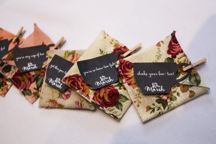 Favours Tea Sachet Handmade Vintage Pretty Quirky Pastel Wedding http://www.happilyevercaptured.com/
