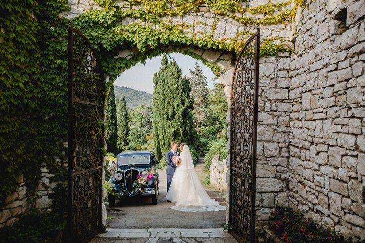 Car Transport Gates Romantic Vibrant Pink Wedding Trieste http://www.emotionttl.com/en/home/