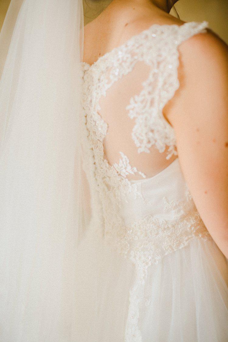 Dress She Shea Lace Back Detail Romantic Vibrant Pink Wedding Trieste http://www.emotionttl.com/en/home/