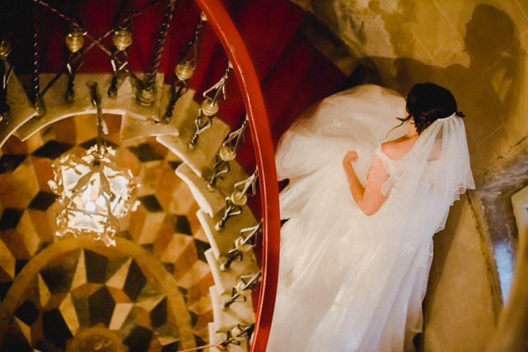 Spiral Staircase Steps Bride Tiles Romantic Vibrant Pink Wedding Trieste http://www.emotionttl.com/en/home/