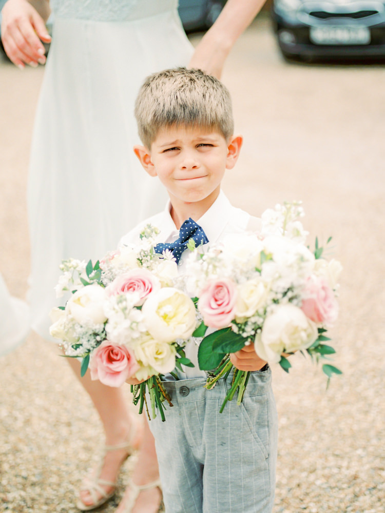 Page Boy Flowers Bouquets Bow Tie Whimsical Luxury Summer Garden Party Wedding https://www.wookiephotography.com/