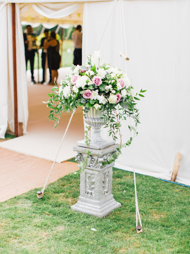 Outdoor Flowers Door Pink White Roses Whimsical Luxury Summer Garden Party Wedding https://www.wookiephotography.com/