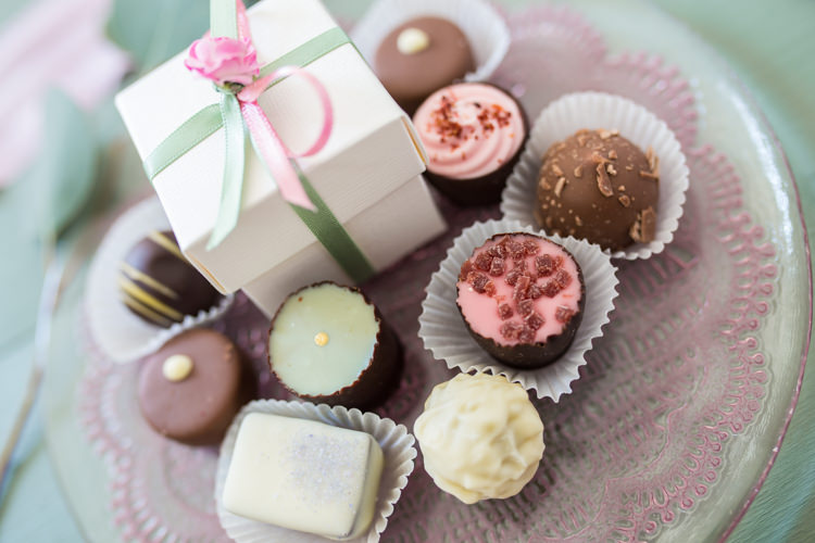 Chocolate Favours Pretty Soft Country Garden Pastel Wedding Ideas https://www.ellielouphotography.co.uk/