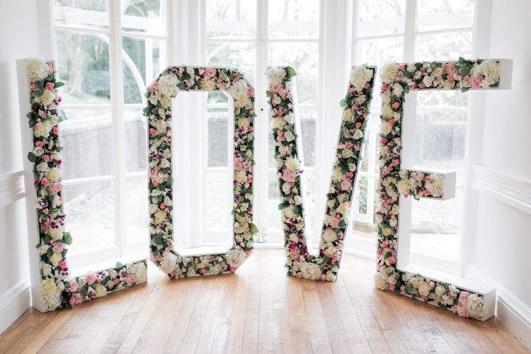 Flower Floral Love Letters Pretty Soft Country Garden Pastel Wedding Ideas https://www.ellielouphotography.co.uk/