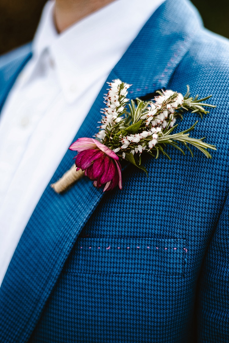 Rosemary Buttonhole Groom Herb Beautiful Countryside Wedding Ideas Inspiration http://www.georginabrewster.com/