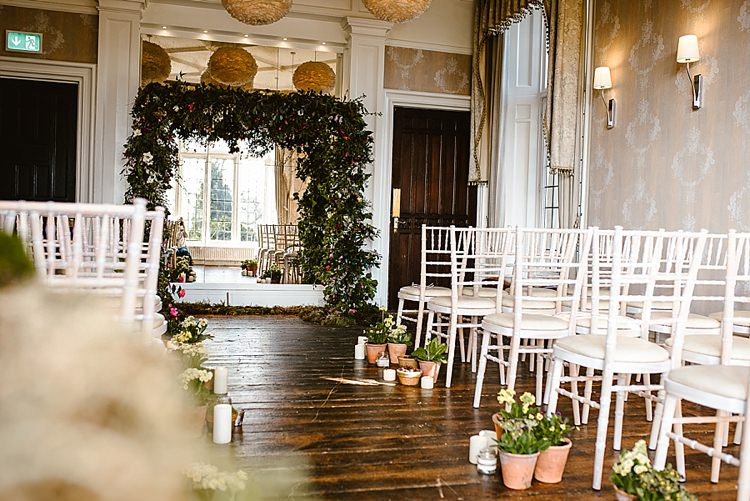 Flower Arch Backdrop Ceremony Foliage Greenery Beautiful Countryside Wedding Ideas Inspiration http://www.georginabrewster.com/