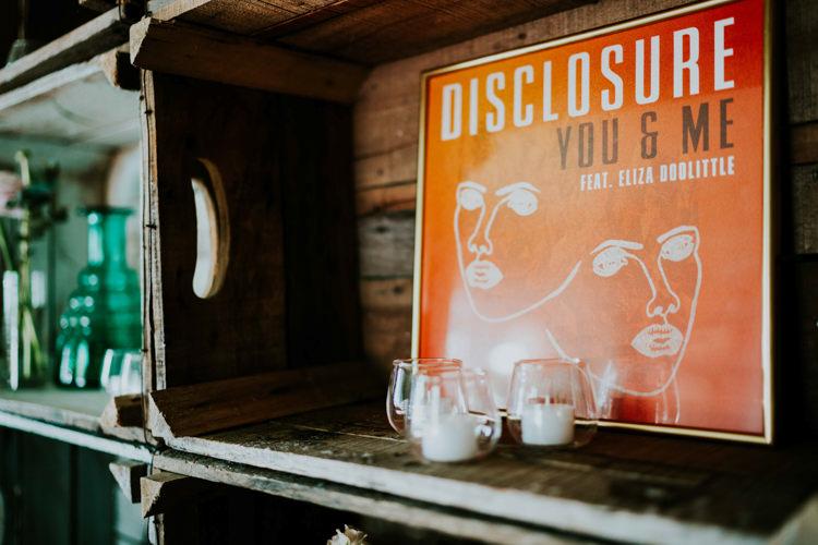 Crate Decor Props Candles Jars Record Details Dreamy Blush Floral Wonderland Wedding http://www.stevebridgwoodphotography.co.uk/