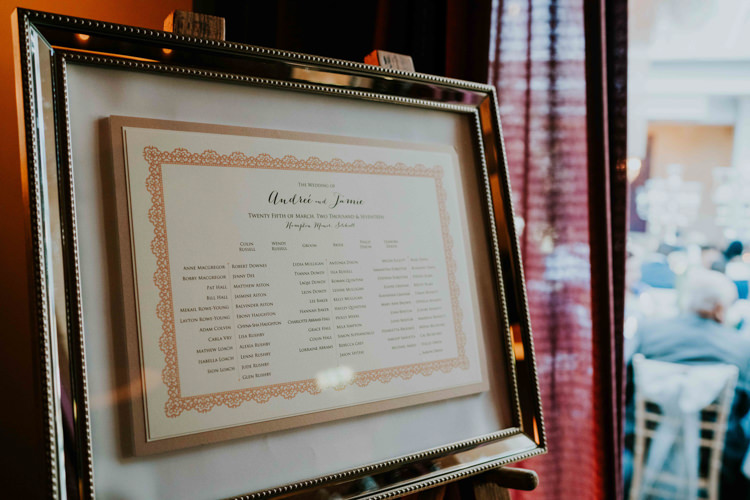 Table Plan Seating Chart Silver Frame Easel Dreamy Blush Floral Wonderland Wedding http://www.stevebridgwoodphotography.co.uk/