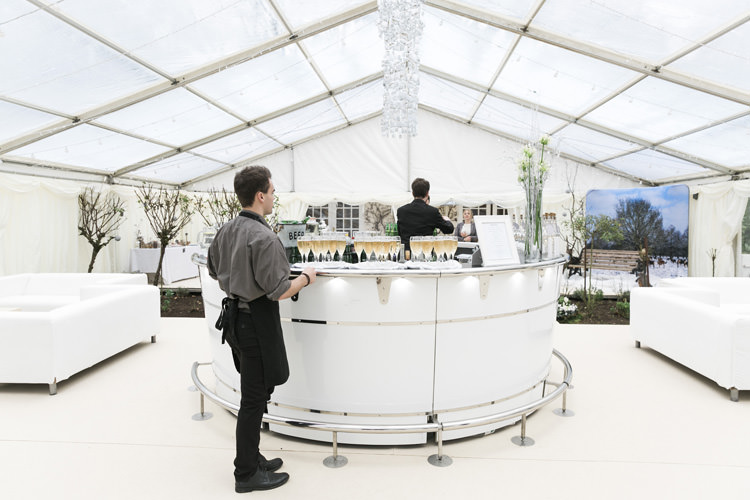 Clear Roof Marquee Round Bar Winter White Gorgeously Glam New Years Eve Wedding http://www.photographybykrishanthi.co.uk/