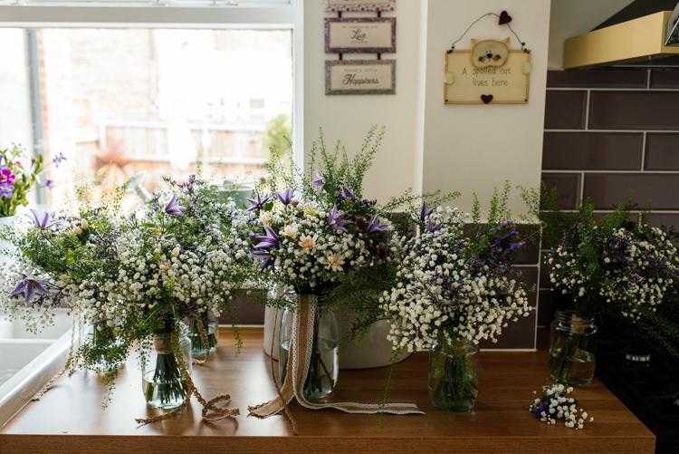 Wild Natural Flowers Bouquets Bridal Bride Bridesmaid Fun Loving Secret Garden Tipi Wedding https://www.aaroncollettphotography.co.uk/