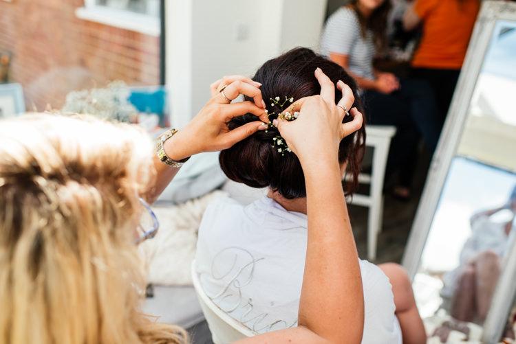 Bride Bridal Hair Style Fun Loving Secret Garden Tipi Wedding https://www.aaroncollettphotography.co.uk/