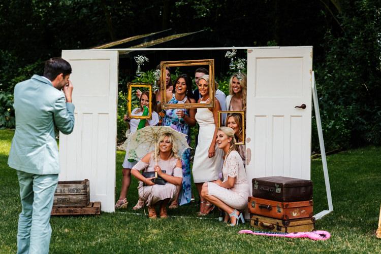 Vintage Door Photo Booth Frames Props Fun Loving Secret Garden Tipi Wedding https://www.aaroncollettphotography.co.uk/