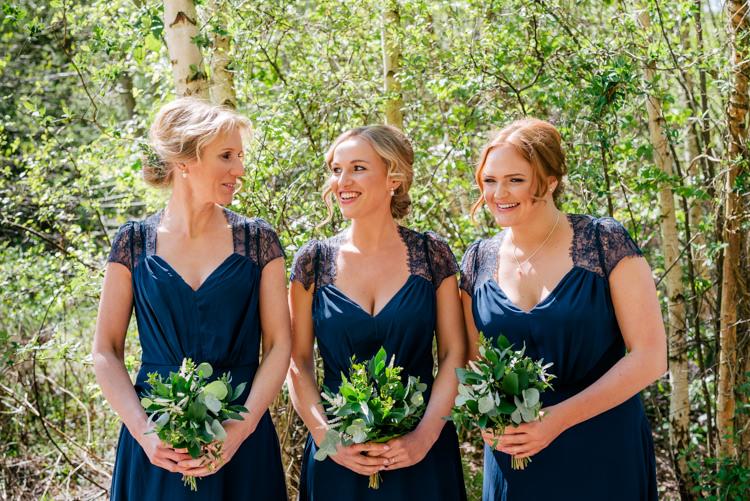 Navy Blue Bridesmaid Dresses Industrial Glam Marquee Wedding http://www.stottandatkinson.com/