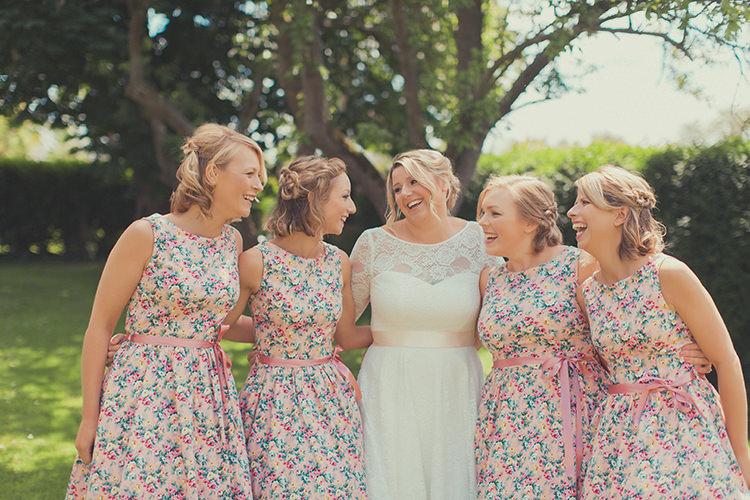 Vintage Floral Bridesmaid Dresses Whimsical Countryside Yurt Wedding http://jamesgreenphotographer.co.uk/