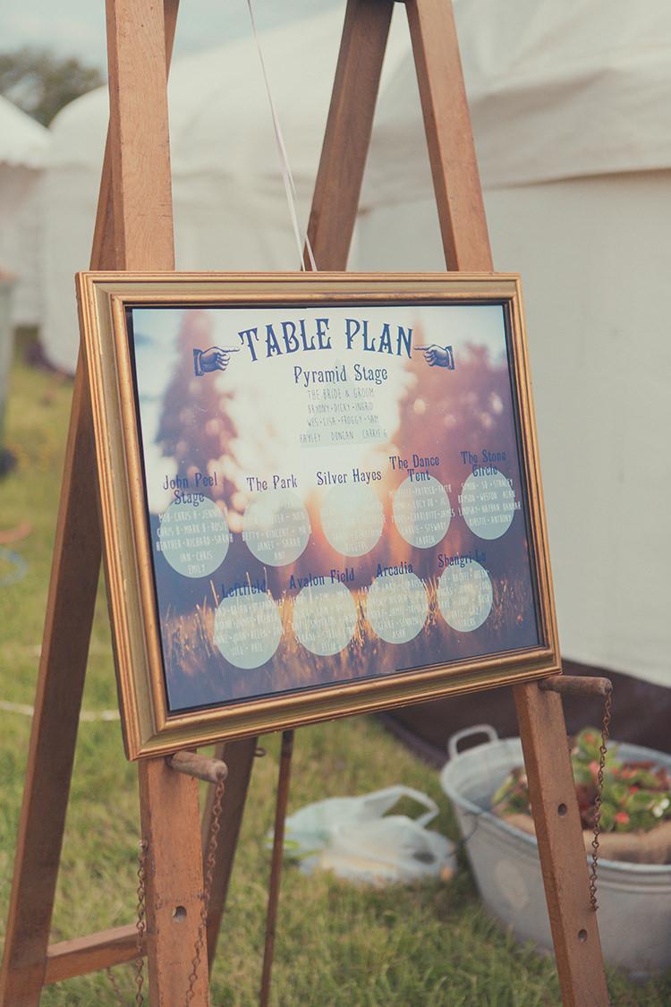 Festival Frame Seating Plan Table Chart Whimsical Countryside Yurt Wedding http://jamesgreenphotographer.co.uk/