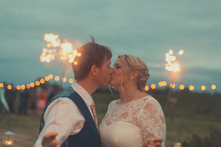 Sparklers Whimsical Countryside Yurt Wedding http://jamesgreenphotographer.co.uk/