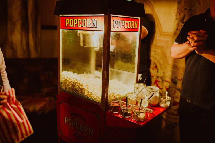Popcorn Machine Vintage 1920s Speakeasy Country House Glamour Wedding https://www.bearscollective.com/